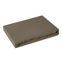 Prześcieradło bawełniane gładkie 120x200+25cm 140 kolor brązowy - 120 X 200 cm, wys.25 cm - brązowy 2
