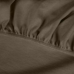 Prześcieradło bawełniane gładkie 120x200+25cm 140 kolor brązowy - 120 X 200 cm, wys.25 cm - brązowy 6