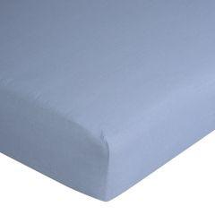 Prześcieradło bawełniane gładkie 120x200+25cm 140 kolor niebieski - 120 X 200 cm, wys.25 cm - niebieski 7