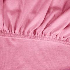 Prześcieradło bawełniane gładkie 120x200+25cm 140 kolor różowy - 120 X 200 cm, wys.25 cm - różowy 9