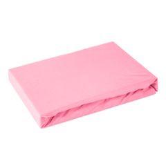 Prześcieradło bawełniane gładkie 120x200+25cm 140 kolor różowy - 120 X 200 cm, wys.25 cm - różowy 2