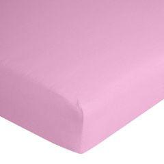 Prześcieradło bawełniane gładkie 120x200+25cm 140 kolor różowy - 120 X 200 cm, wys.25 cm - różowy 7