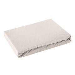 Prześcieradło bawełniane gładkie 120x200+25cm 140 kolor srebrny - 120 X 200 cm, wys.25 cm - jasnoszary 2