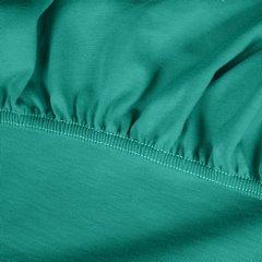 Prześcieradło bawełniane gładkie 120x200+25cm 140 kolor turkusowy - 120 X 200 cm, wys.25 cm - turkusowy 9