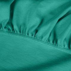 Prześcieradło bawełniane gładkie 120x200+25cm 140 kolor turkusowy - 120 X 200 cm, wys.25 cm - turkusowy 6