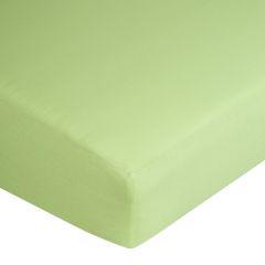 Prześcieradło bawełniane gładkie 160x200+25cm 140 kolor morelowy - 160 X 200 cm, wys.25 cm - miętowy 1