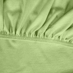 Prześcieradło bawełniane gładkie 160x200+25cm 140 kolor morelowy - 160 X 200 cm, wys.25 cm - miętowy 5