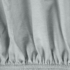 Prześcieradło bawełniane gładkie 160x200+25cm 140 kolor srebrny - 160 X 200 cm, wys.25 cm - jasnoszary 5