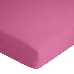 Prześcieradło bawełniane gładkie 160x200+25cm kolor amarant - 160 X 200 cm, wys.25 cm - amarantowy 1