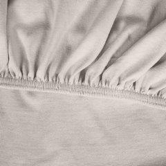 Prześcieradło bawełniane gładkie 180x200+25cm 140 kolor srebrny - 180 X 200 cm, wys.25 cm - jasnoszary 10