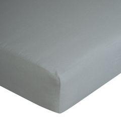 Prześcieradło bawełniane gładkie 180x200+25cm 140 kolor srebrny - 180 X 200 cm, wys.25 cm - jasnoszary 7