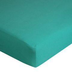 Prześcieradło bawełniane gładkie 180x200+25cm 140 kolor turkusowy - 180 X 200 cm, wys.25 cm - turkusowy 7