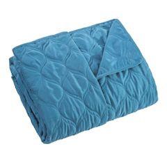 Narzuta na łóżko przeszywana 200x220 cm niebieska - 200x220 - niebieski 2