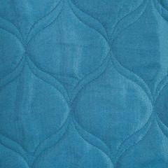 Narzuta na łóżko przeszywana 200x220 cm niebieska - 200 X 220 cm - niebieski 3