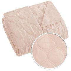 Narzuta na łóżko przeszywana 200x220 cm różowa - 200 x 220 cm - jasnoróżowy 4