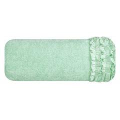 Ręcznik z bawełny z falbankami 50x90cm miętowy - 50 X 90 cm - miętowy 2