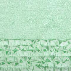 Ręcznik z bawełny z falbankami 50x90cm miętowy - 50 X 90 cm - miętowy 4