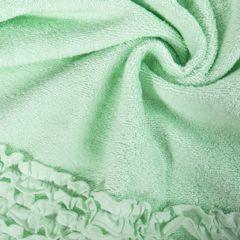 Ręcznik z bawełny z falbankami 50x90cm miętowy - 50 X 90 cm - miętowy 5