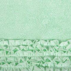 Ręcznik z bawełny z falbankami 70x140cm miętowy - 70 X 140 cm - miętowy 8