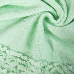 Ręcznik z bawełny z falbankami 70x140cm miętowy - 70 X 140 cm - miętowy 9