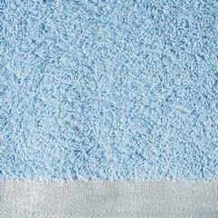 Ręcznik z bawełny z błyszczącym brzegiem 50x90cm niebieski - 50 X 90 cm - niebieski 9