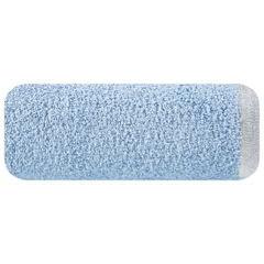 Ręcznik z bawełny z błyszczącym brzegiem 50x90cm niebieski - 50 X 90 cm - niebieski 2