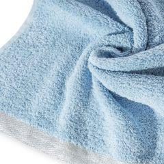 Ręcznik z bawełny z błyszczącym brzegiem 50x90cm niebieski - 50 X 90 cm - niebieski 5