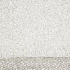 Ręcznik z bawełny z błyszczącym brzegiem 50x90cm biały - 50 X 90 cm - kremowy 9