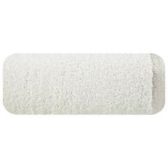 Ręcznik z bawełny z błyszczącym brzegiem 50x90cm biały - 50 X 90 cm - kremowy 2