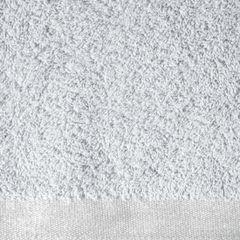 Ręcznik z bawełny z błyszczącym brzegiem 50x90cm popielaty - 50 X 90 cm - srebrny 7