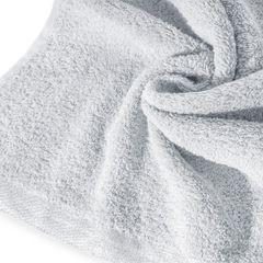 Ręcznik z bawełny z błyszczącym brzegiem 50x90cm popielaty - 50 X 90 cm - srebrny 9