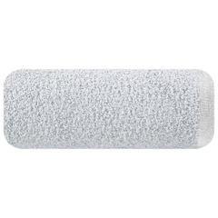 Ręcznik z bawełny z błyszczącym brzegiem 50x90cm popielaty - 50 X 90 cm - srebrny 2