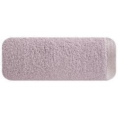 Ręcznik z bawełny z błyszczącym brzegiem 50x90cm różowy - 50 X 90 cm - liliowy 2