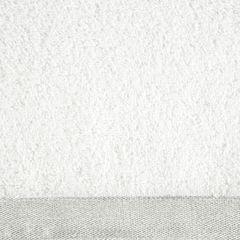 Ręcznik z bawełny z błyszczącym brzegiem 70x140cm biały - 70 X 140 cm - biały 7
