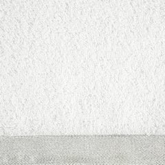 Ręcznik z bawełny z błyszczącym brzegiem 70x140cm biały - 70 X 140 cm - biały 8