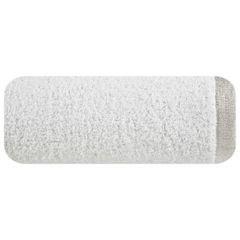 Ręcznik z bawełny z błyszczącym brzegiem 70x140cm biały - 70 X 140 cm - biały 2