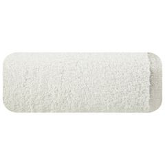 Ręcznik z bawełny z błyszczącym brzegiem 70x140cm kremowy - 70 X 140 cm - kremowy 2