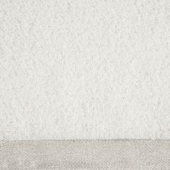 Ręcznik z bawełny z błyszczącym brzegiem 70x140cm kremowy - 70 X 140 cm - kremowy 4