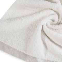 Ręcznik z bawełny z błyszczącym brzegiem 70x140cm kremowy - 70 X 140 cm - kremowy 5