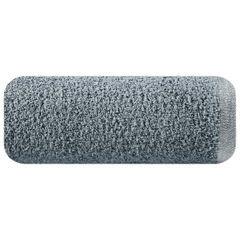 Ręcznik z bawełny z błyszczącym brzegiem 70x140cm biały - 70 X 140 cm - stalowy 2