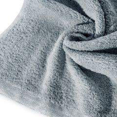 Ręcznik z bawełny z błyszczącym brzegiem 70x140cm biały - 70 X 140 cm - stalowy 5