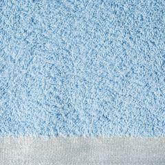 Ręcznik z bawełny z błyszczącym brzegiem 70x140cm niebieski - 70 X 140 cm - niebieski 4