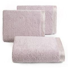 Ręcznik z bawełny z błyszczącym brzegiem 70x140cm różowy - 70 X 140 cm - liliowy 1