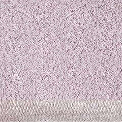 Ręcznik z bawełny z błyszczącym brzegiem 70x140cm różowy - 70 X 140 cm - liliowy 9