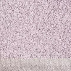 Ręcznik z bawełny z błyszczącym brzegiem 70x140cm różowy - 70 X 140 cm - liliowy 4