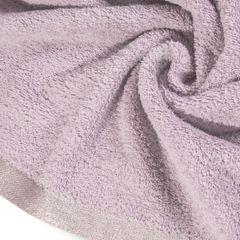 Ręcznik z bawełny z błyszczącym brzegiem 70x140cm różowy - 70 X 140 cm - liliowy 5