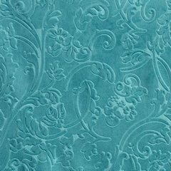 Zasłona welwetowa ornamentowy wzór 140x250 cm turkusowa - 140x250 - turkusowy 3