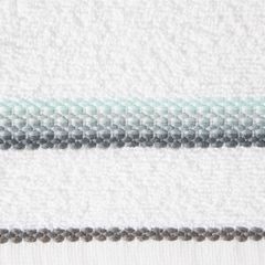 Ręcznik z tęczowym haftem na bordiurze 30x50cm - 30 X 50 cm - biały 9