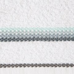 Ręcznik z tęczowym haftem na bordiurze 50x90cm - 50 X 90 cm - biały 10