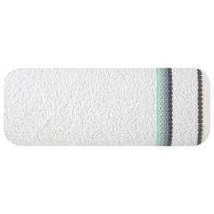 Ręcznik z tęczowym haftem na bordiurze 50x90cm - 50 X 90 cm - biały 2